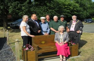 Orbitas, Bereavement Services, proud to accept memorial seat from Crewe Men in Sheds